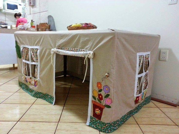 ARTESANATO COM QUIANE - Paps,Moldes,E.V.A,Feltro,Costuras,Fofuchas 3D: ideia de toalha casa para mesa de jantar
