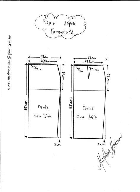 Bilderesultat for faldas patrones lapiz con pretina ancha   PATRONES ...