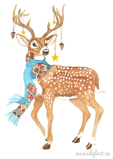 deer illustration. {love}
