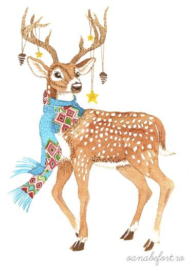 deer illustration. {love}