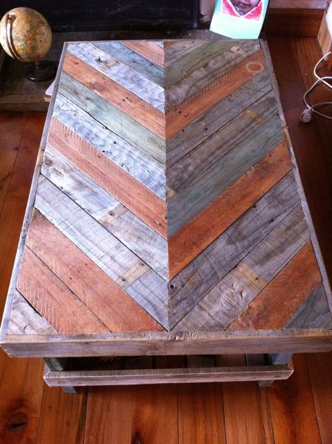 Handmade wooden coffee table made from 100% recycled ...