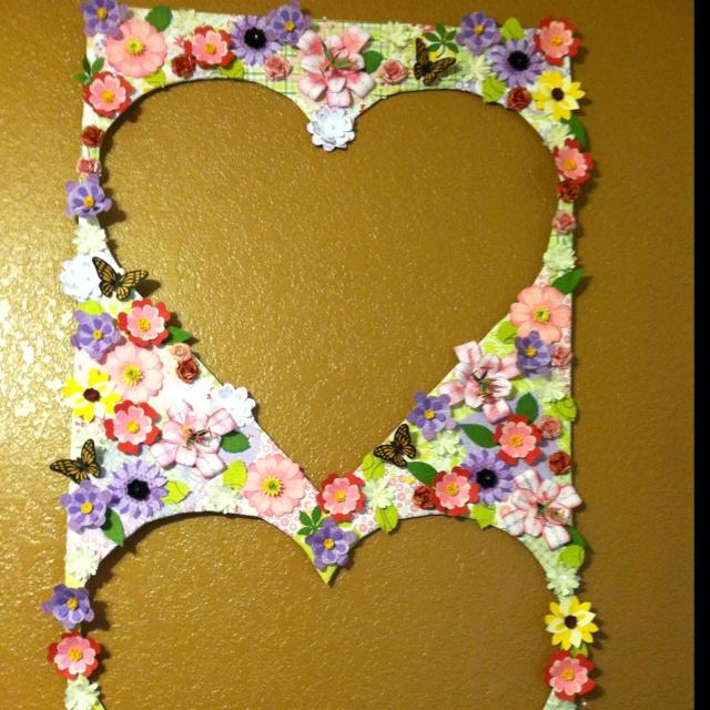 Flower garden board ~ made from paper