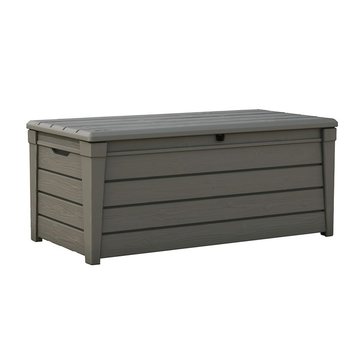 Keter 145 x 69.7 x 60.3cm 455L Brightwood Outdoor Storage Box