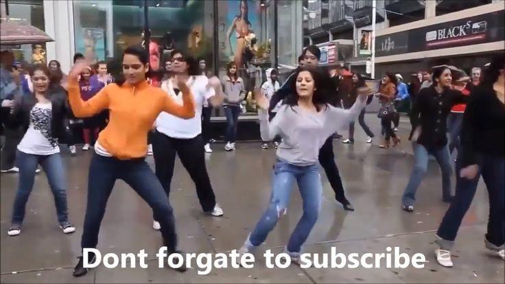 American Girls Dance on The Street - Dance Wiith Hindi Song - Amazing St...