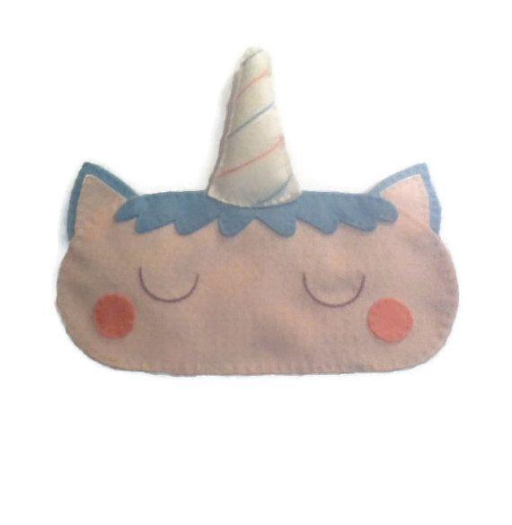 Unicorn sleep mask Unicorn eye mask Unicorn gift by NipNopsUK