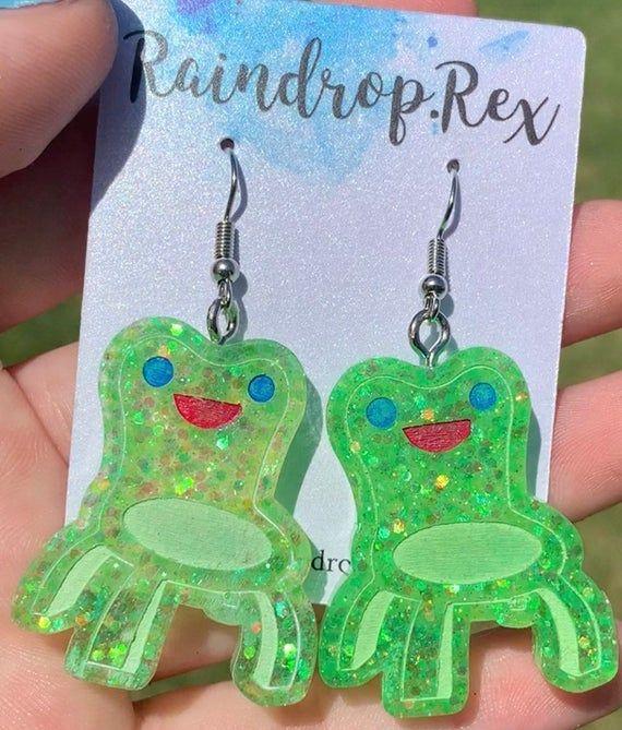 Froggy Chair Earrings Animal Crossing New Horizons Jewelry Etsy In 2020 Etsy Earrings Crazy Earrings Indie Jewelry