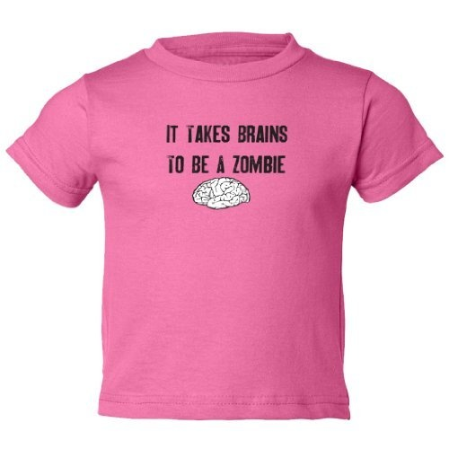 Zombie Underground Toddler Shirts - It Takes Brains To Be A Zombie - Gift Short Sleeve Toddler T-Shirt Zombie Gifts or Zombie presents for that hard to shop for Undead in your life