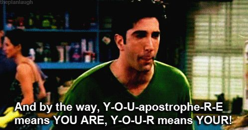 Grammar lessons with Ross