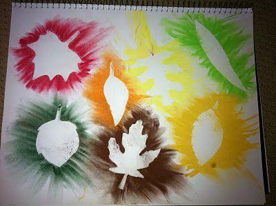 Lots of Fall activities!  Leaves, leaf painting, preschool #preschool