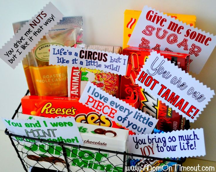 DIY Valentine's Day Gift Baskets- for him. So cute and cheesy I love it.