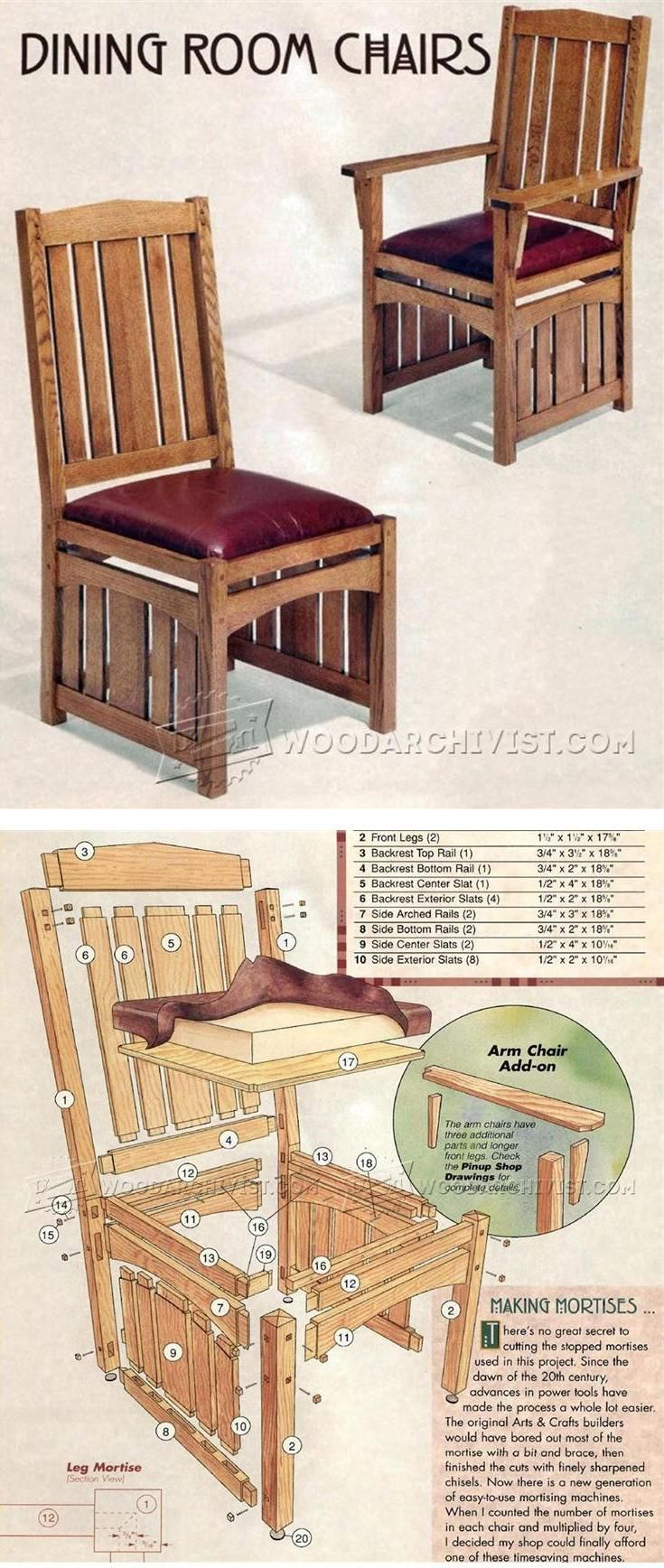 How to build a wingback chair my woodworking plans - Dining Room Chairs Plans Furniture Plans And Projects Woodarchivist Com
