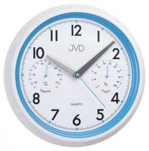 #Clock #JVD Plastikowy zegar ścienny sweep HA1.1 - Jasněna Vláhová Design - niebieski