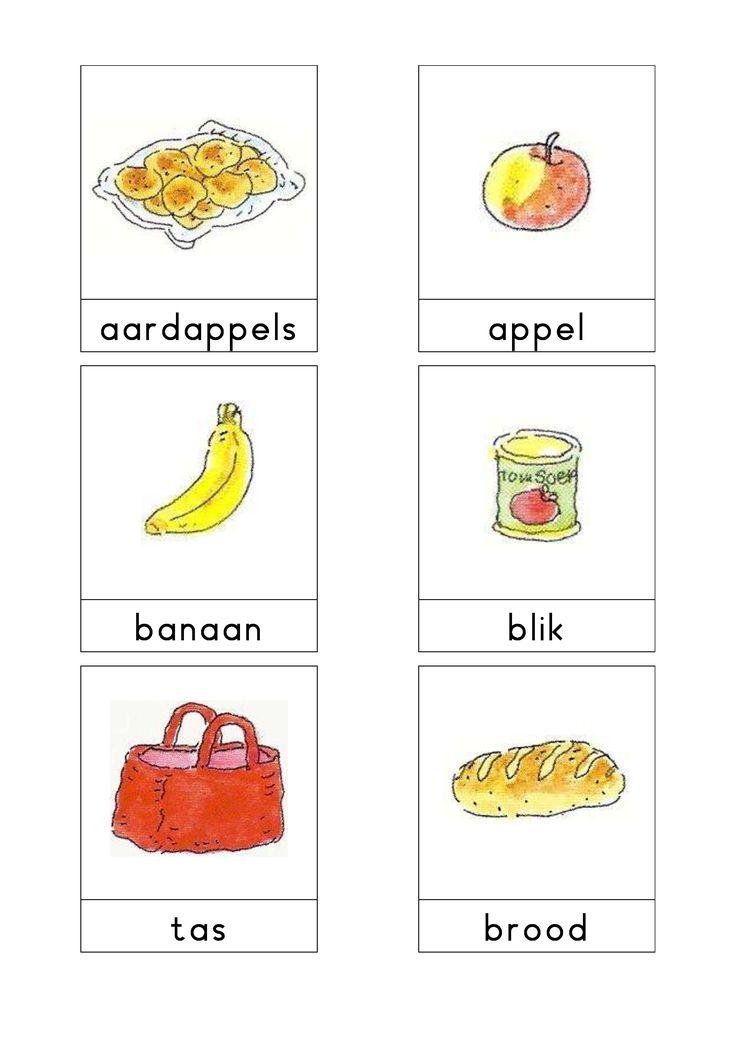 Woordkaarten Bas 'De supermarkt' 1