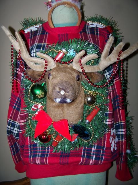 "Ugly Christmas Sweater Contest on Photobucket…this one is called ""My Trophy"" go to this site and vote for us PLEASE! http://photobucket.com/contests#entry/1902430  and remember to check out danamypetro on ebay: http://myworld.ebay.com/danamypetro/"