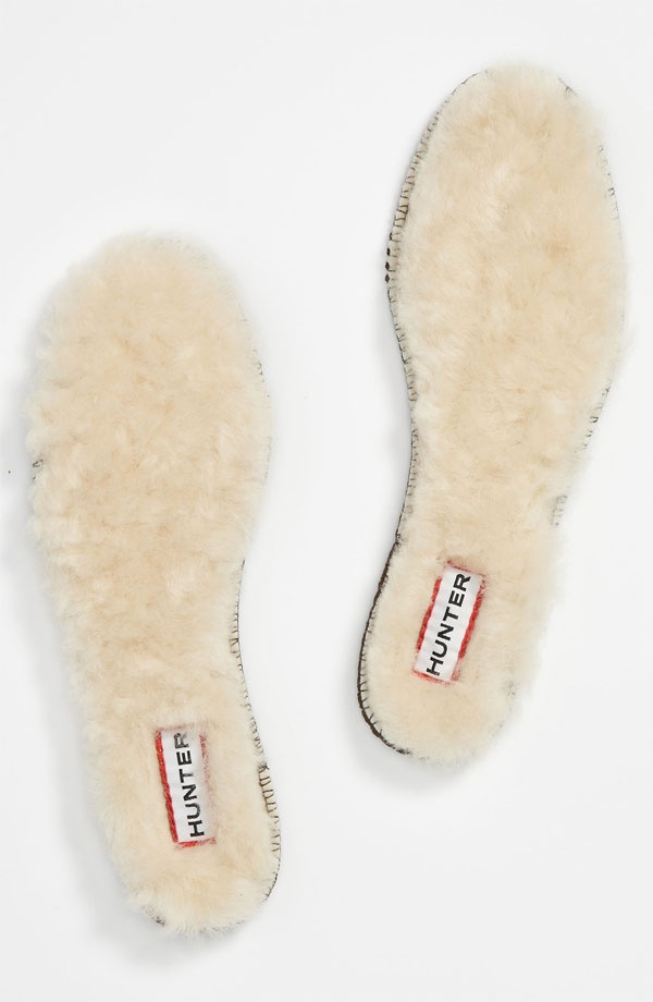 Shearling insoles for Hunter boots!! My new boots deefffintteelly need these :)
