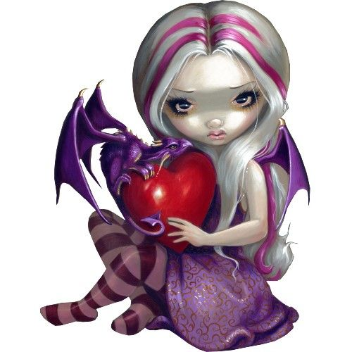 Fairy with dragon! Love this