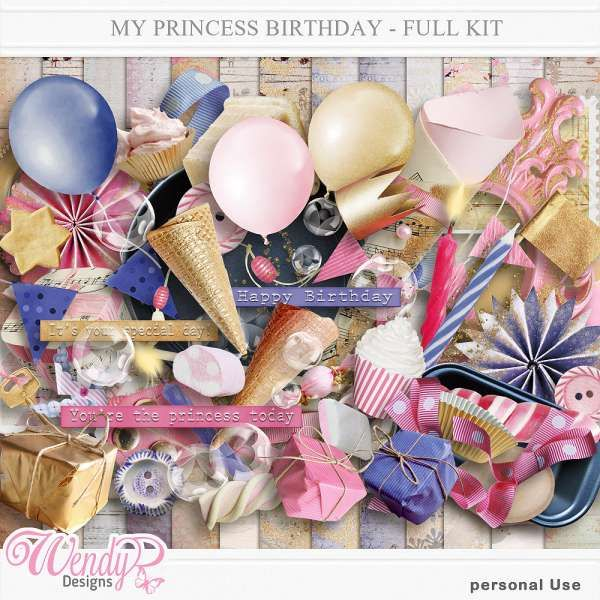 Personal Use :: Kits :: It's my princess birthday