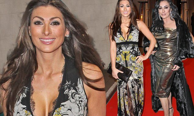 Luisa Zissman, 27, and Nancy Dell'Olio, 53 flaunt figures at party