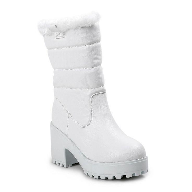 Autumn/Winter 2014 | FULLAHSUGAH FAUX FUR CHUNKY SOLE BOOTS | €49.90 | 4451105310 | http://fullahsugah.gr