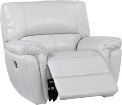 shop for a browning bluff light gray leather glider recliner at rooms to go find