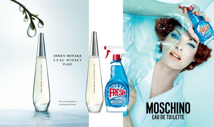 Find your perfume, according to your sign!  L'Eau d'Issey Pure, Issey Miyake or Fresh Couture, Moschino for Pisces