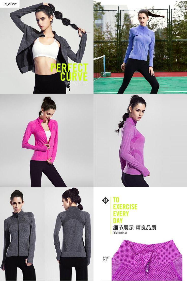 [Visit to Buy] Women Zipper Fitness Tight Yoga Shirt Outdoor Quick Dry Running Shirts Long Seelved Ladies Sportswear Stand-neck Sports Clothing #Advertisement