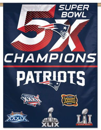 Rare NEW ENGLAND PATRIOTS 5-Time Super Bowl Champs (2017) Premium WALL BANNER | Sports Mem, Cards & Fan Shop, Fan Apparel & Souvenirs, Football-NFL | eBay!