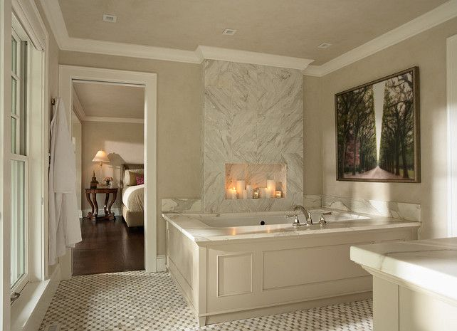 Superb #bathroom Classic Bathroom Beautiful Tub Frame/molding With Marble Counter. Part 7