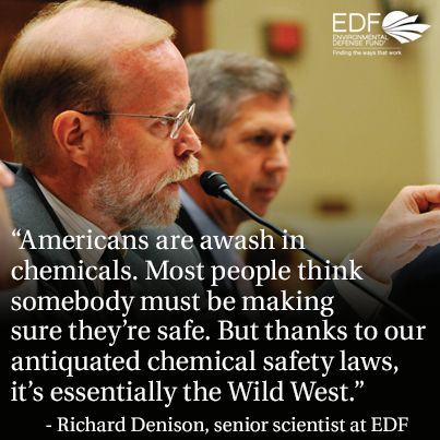 """Separate from food policy, but linked. Prev. pinner writes, """"Outdated law means we're surrounded by toxic chemicals: www.edf.org/oZa"""""""