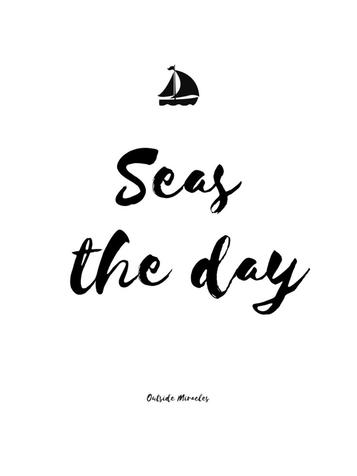 Seas the day quote