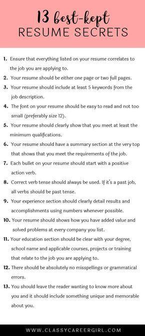 9 best Resumes, Internships  Job Tips images on Pinterest Resume - hvac technician resume sample