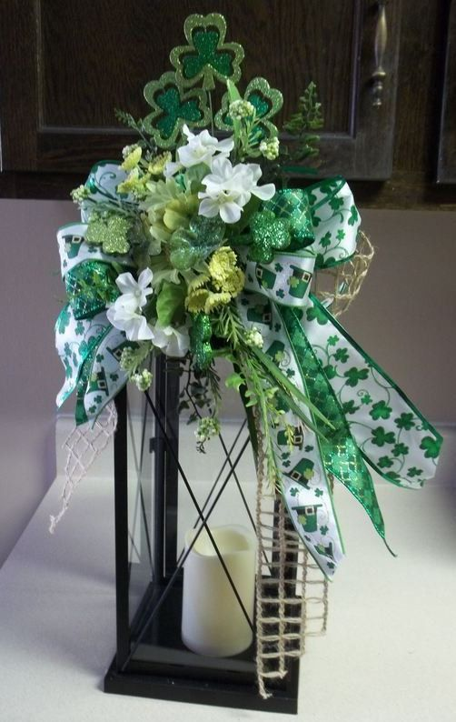 """BIT OF BLARNEY"" -  Decorative St. Patrick's Day Swag/Bow by DecorClassicFlorals, $34.95"