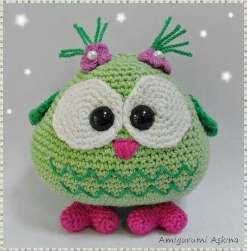 60 besten Crochet Owls Bilder auf Pinterest   Schleiereulen ...