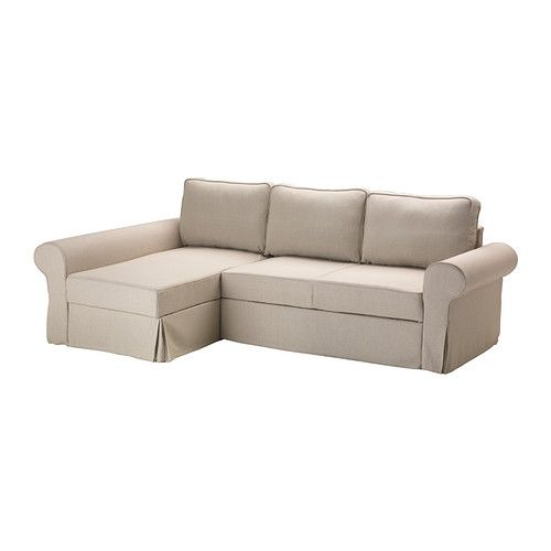 BACKABRO Covered sofa-bed with chaise IKEA The cover is easy to keep clean as it is removable and can be machine washed.