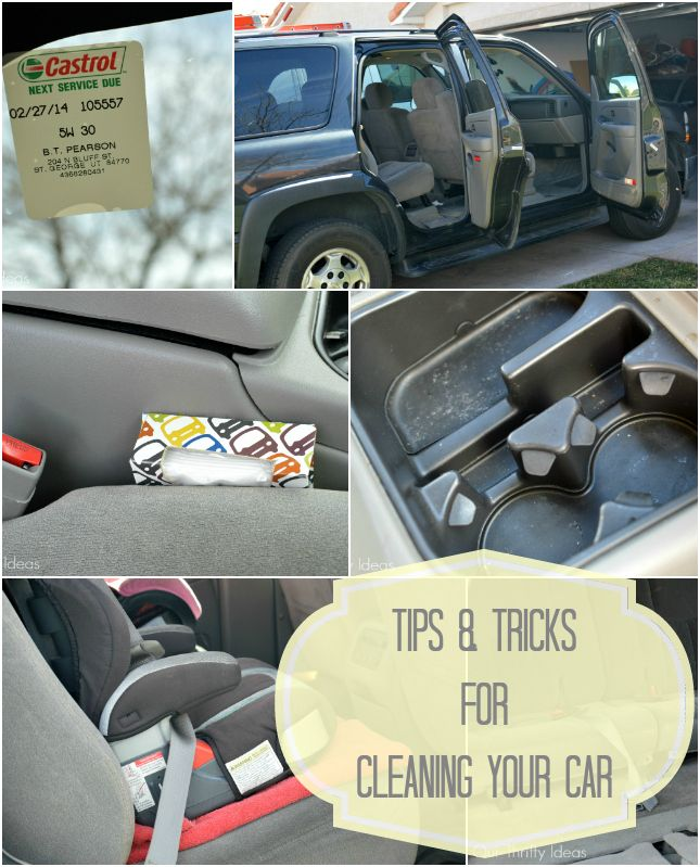 Really easy and useful tips for Spring Cleaning your car!