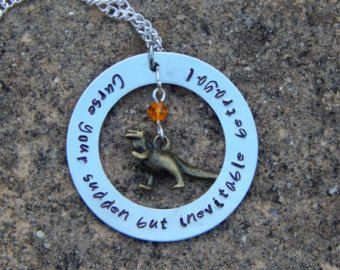 Firefly inspired hand stamped necklace Curse your sudden but inevitable betrayal