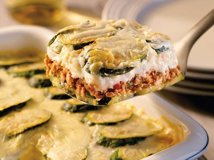 Moussaka au saumon et zucchini recette de Clover Leaf