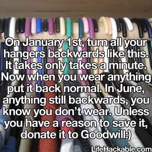 Try this hack to get rid of clothes just wasting space. | 15 Wonderful Ways To Improve Your Closet