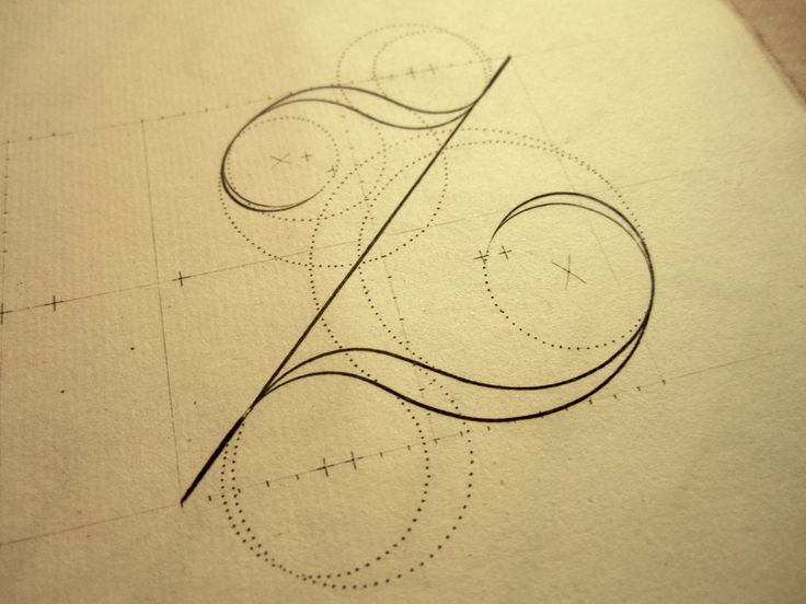 hand drawn typography curves