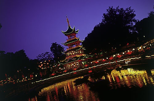 Tivoli, a must when you are in Copenhagen! Especially nice in summer, just before Christmas (Christmas market) at Halloween and similar special holidays. Nice for strolling, many nice restaurants and bars - even if you do not plan to go on the roller coasters.... ;-)