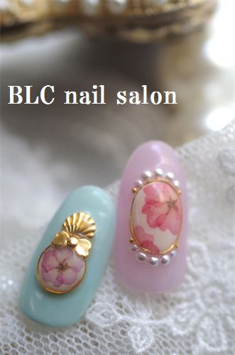 new♪ビオラの押し花ペイント|新潟市中央区万代ネイルサロン~BLC nail salon