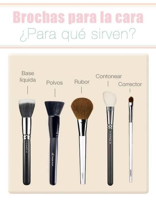 Brochas para maquillaje, ¡descubre cómo usar cada una!
