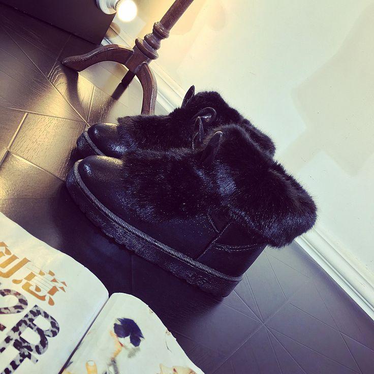 Bottes D'hiver des femmes de Haute Qualité Femmes Chaussures À Long Femme Plate Forme Cheville Pour Démarrage En Peau De Mouton Chaussures Noir Automne Neige De Fourrure Punk dans de sur AliExpress.com | Alibaba Group