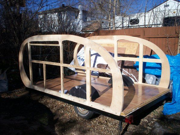 DIY Plywood Teardrop style Camper Trailer - 10 sheets of plywood and a lot of elbow grease!