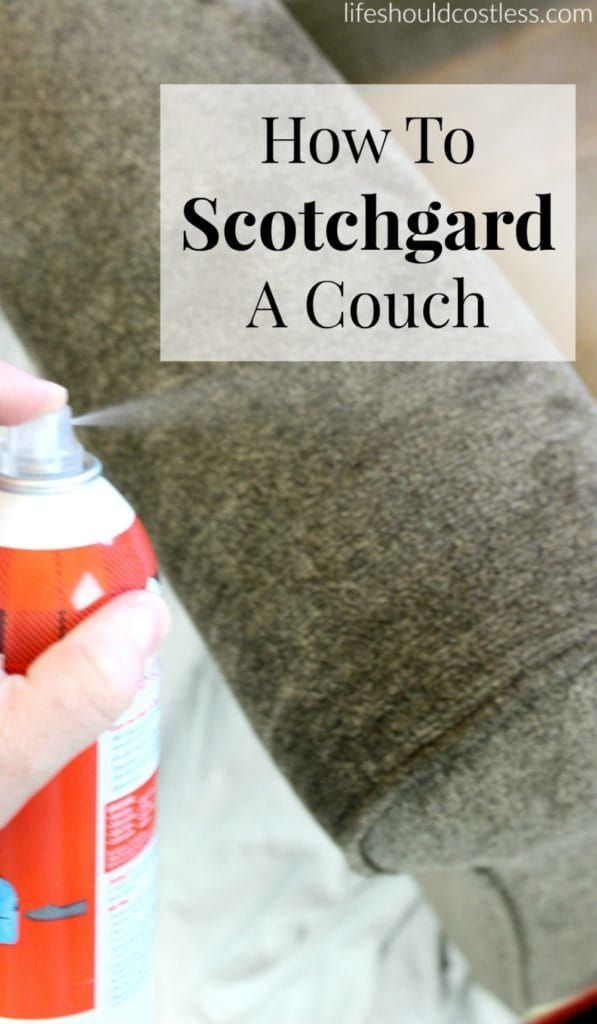 How To Scotchgard a couch. It's even easier than you might think!