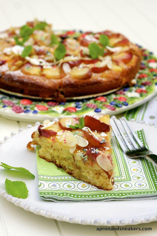 Peach and Almond Yogurt Cake @Rowena Dumlao Giardina (Apron and Sneakers)