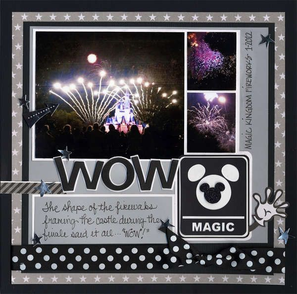 fireworks layout. I love these darker colors that accentuate the night time pictures.