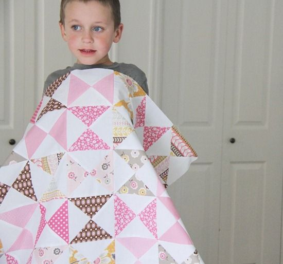 A Pink Classic Hourglass Quilt tutorial from Cluck Cluck Sew
