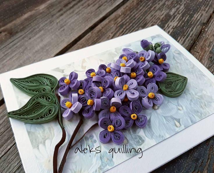 Квиллинг открытка весенняя