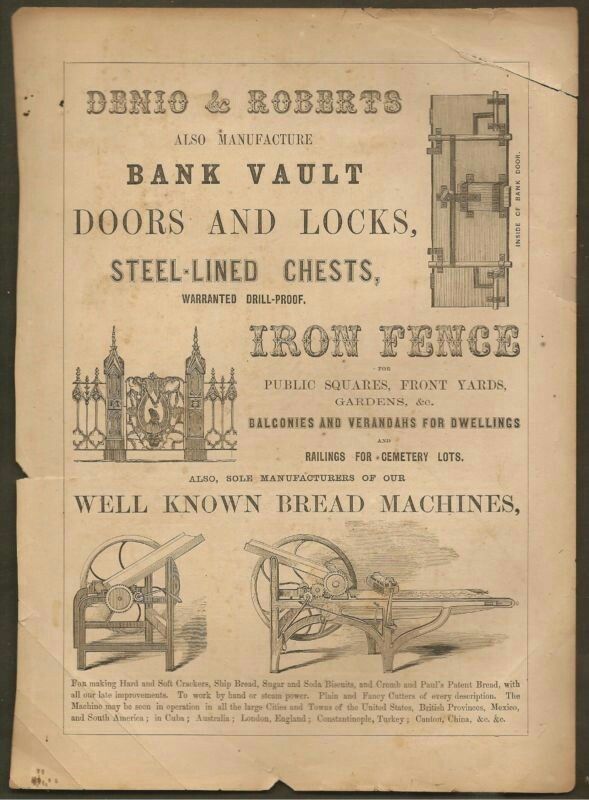 VINTAGE AD LITTLE GIANT MILL WORKS STEAM COOKER & DENIO & ROBERTS BREAD MACHINES